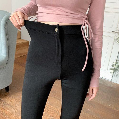 jnroh-케일 버튼 밴딩 부츠컷 레깅스 팬츠(S,M)♡韓國女裝褲