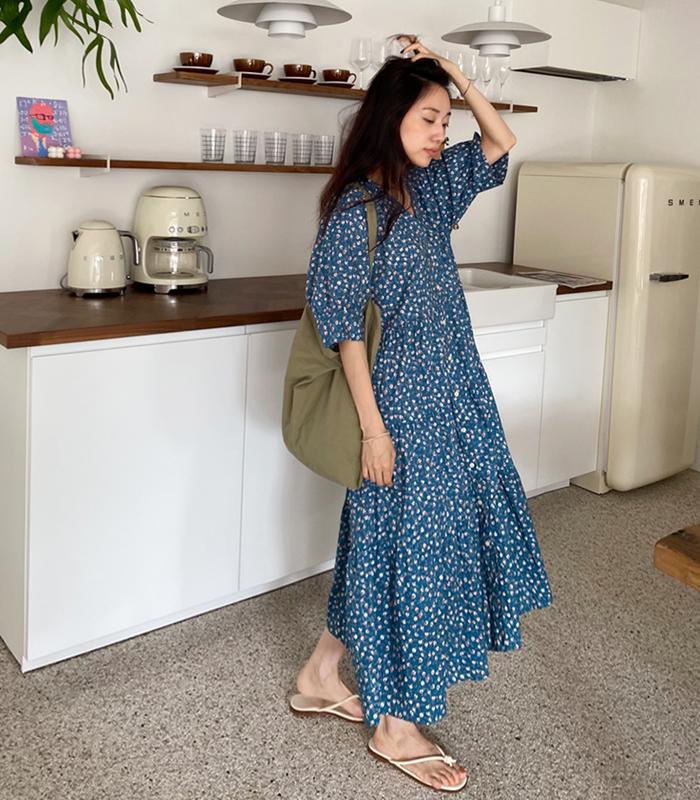 sibuya-[썸머 가든 ops]♡韓國女裝連身裙