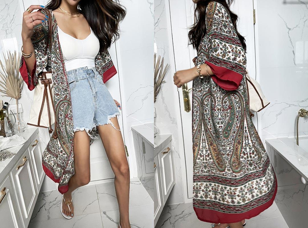 naning9-소메헤 패턴로브(C07)♡韓國女裝外套