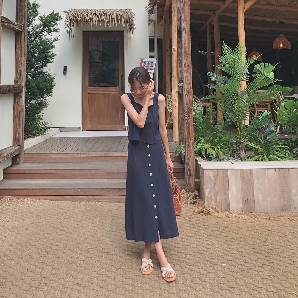 cherrykoko-[제이밍 린넨 투피스]♡韓國女裝套裝
