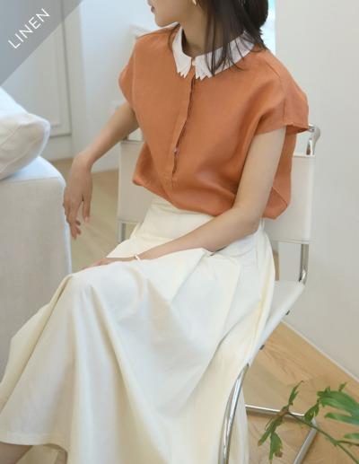 indibrand-라넌 린넨 블라우스 (수입)♡韓國女裝上衣