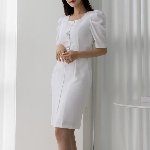 marlangrouge-코니단추미디원피스♡韓國女裝連身裙