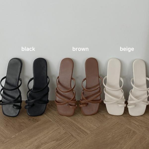 realcoco-♥NEW10%할인♥모넌 엑스 스트랩 슬리퍼♡韓國女裝鞋
