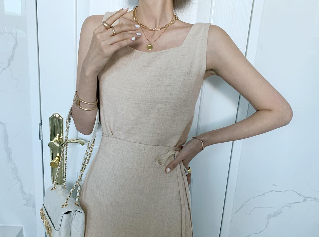 naning9-호월스 린넨나시스커트세트(C07)♡韓國女裝套裝