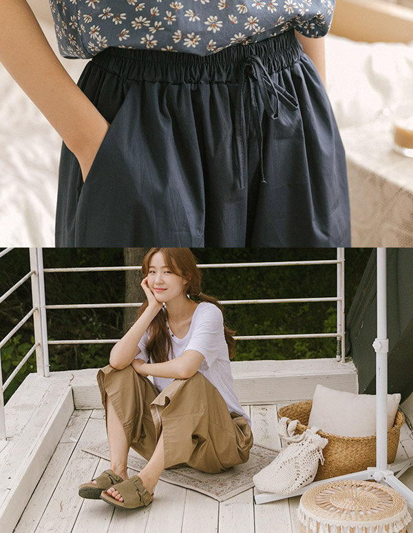 goroke-[내츄럴 통바지*3c]♡韓國女裝褲
