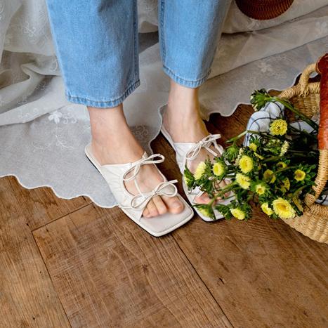 leelin-[제니스 리본썸머 슈즈]♡韓國女裝鞋