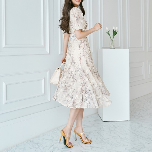 marlangrouge-블라썸퍼프원피스♡韓國女裝連身裙