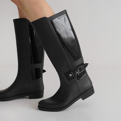 sappun-리썸트 배색 레인부츠 (2.5cm)♡韓國女裝鞋