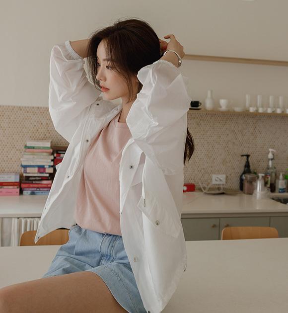 justone-라이딩 얇은 바람막이 점퍼♡韓國女裝外套