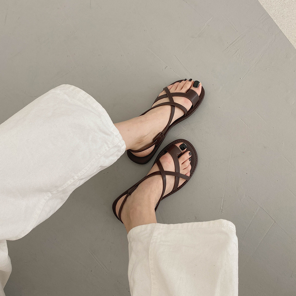 cherrykoko-[그릭 크로스 샌들]♡韓國女裝鞋