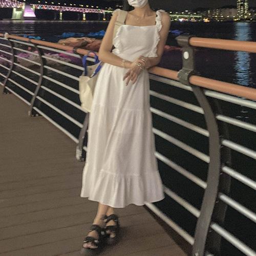 unbutton-[펀칭 엔젤-ops]♡韓國女裝連身裙