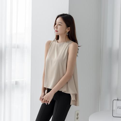 marlangrouge-모드새틴훌블라우스♡韓國女裝上衣