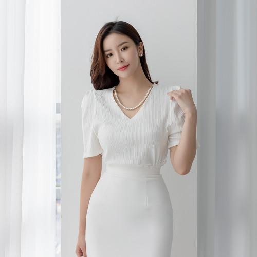 marlangrouge-엘리아펄퍼프탑♡韓國女裝上衣