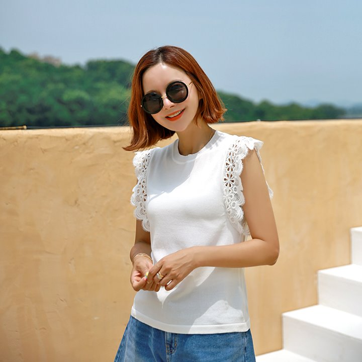 lemite-여성펀칭 썸머니트♡韓國女裝上衣