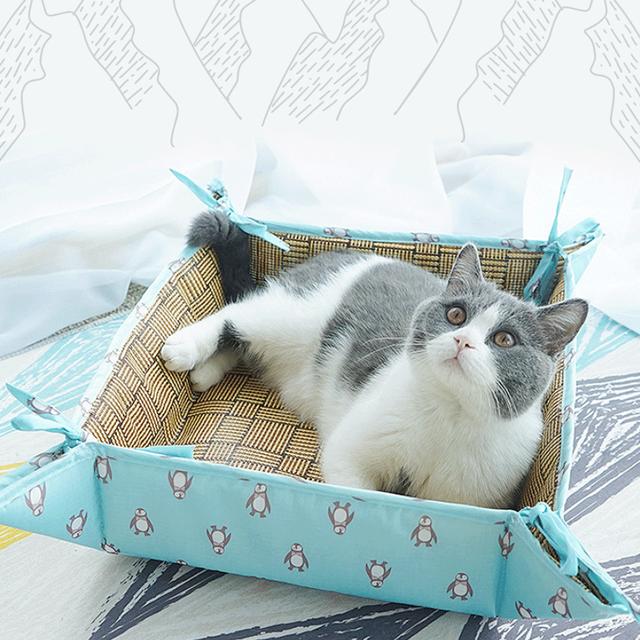 jeramypet-등나무원단 양면사계절방석 강아지여름방석 고양이쿨매트♡寵物生活用品