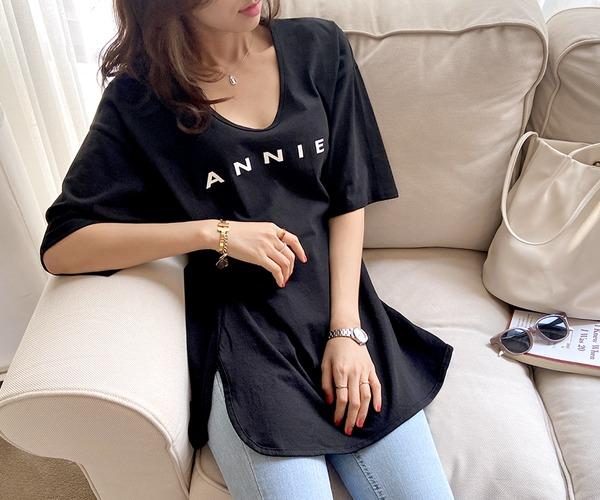 DailyN-런드리 레터링 박스 티셔츠♡韓國女裝上衣