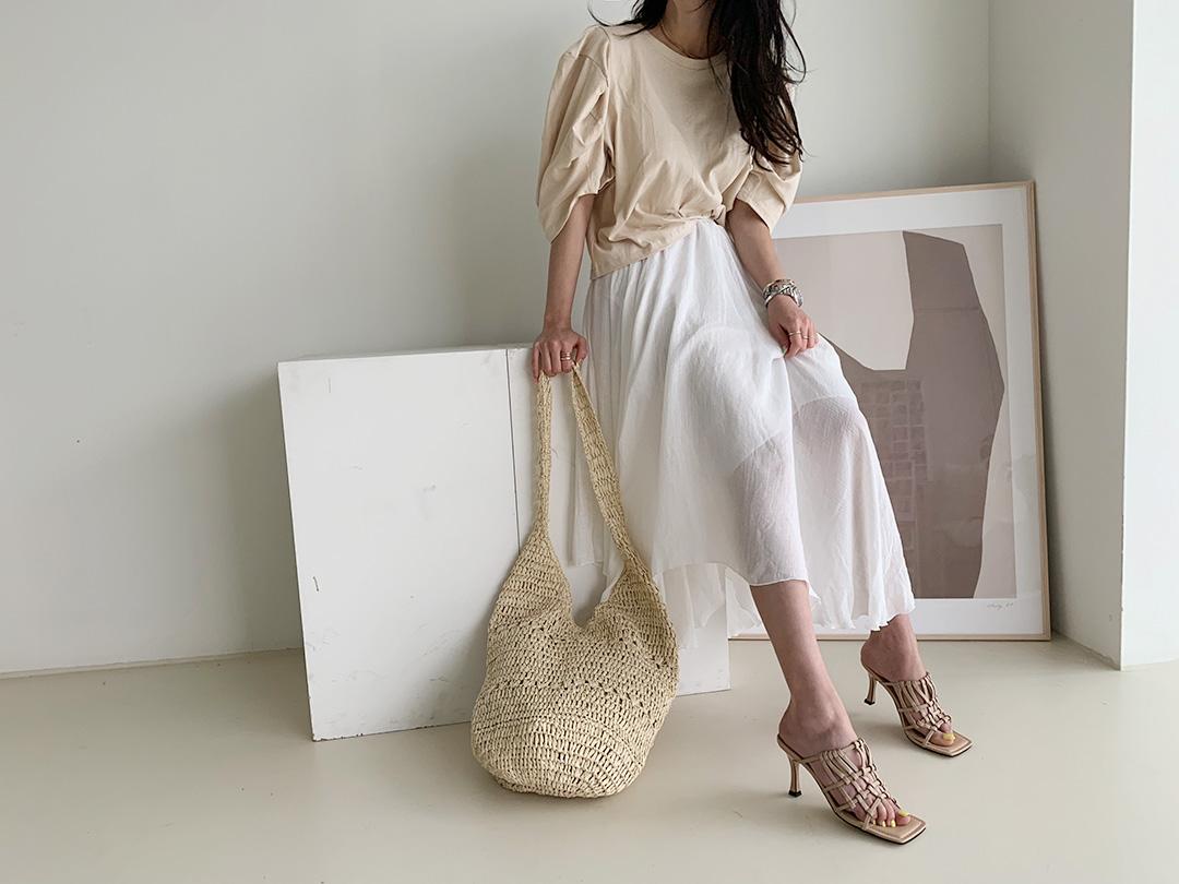 naning9-라쥬앙 퍼프반팔티(B05)♡韓國女裝上衣