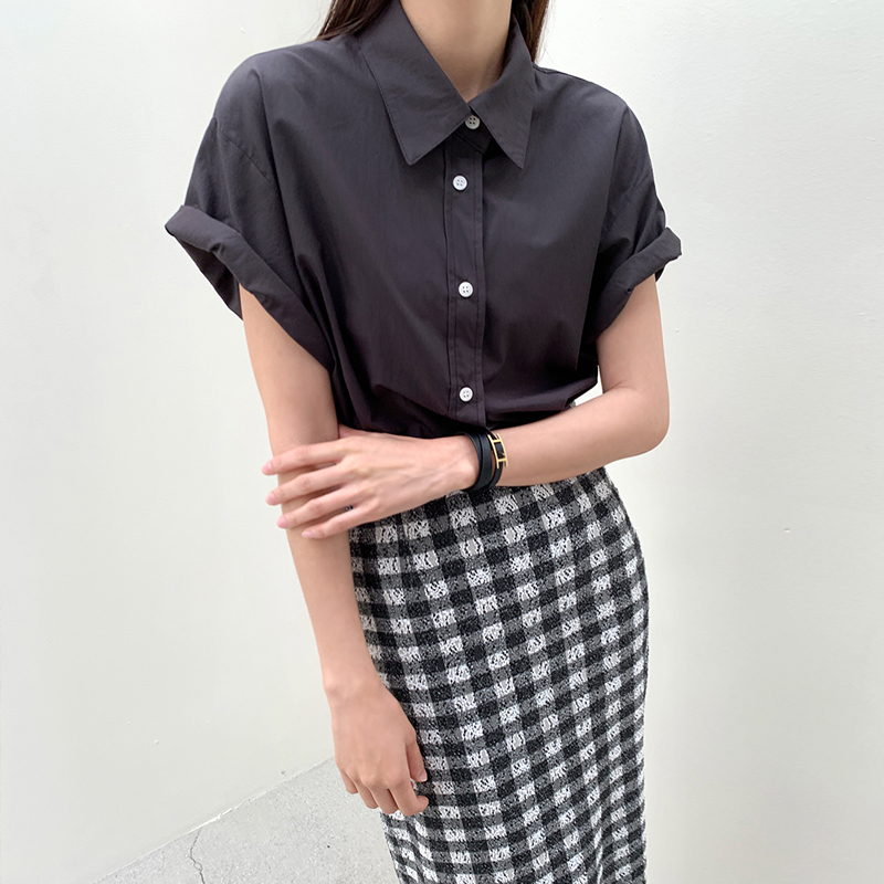 45th-큐브반팔셔츠 ♡韓國女裝上衣