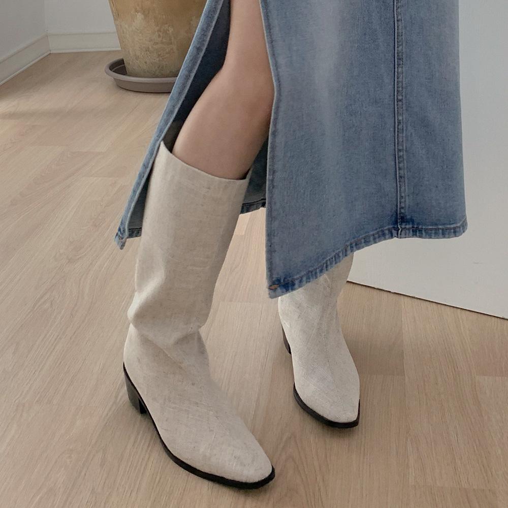 blackup-신토 린넨 부츠 (린넨 100%)♡韓國女裝鞋