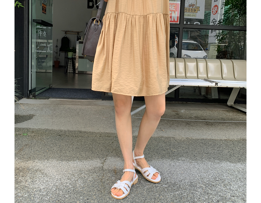 frombeginning-리프 레더버클샌들 (4color)♡韓國女裝鞋