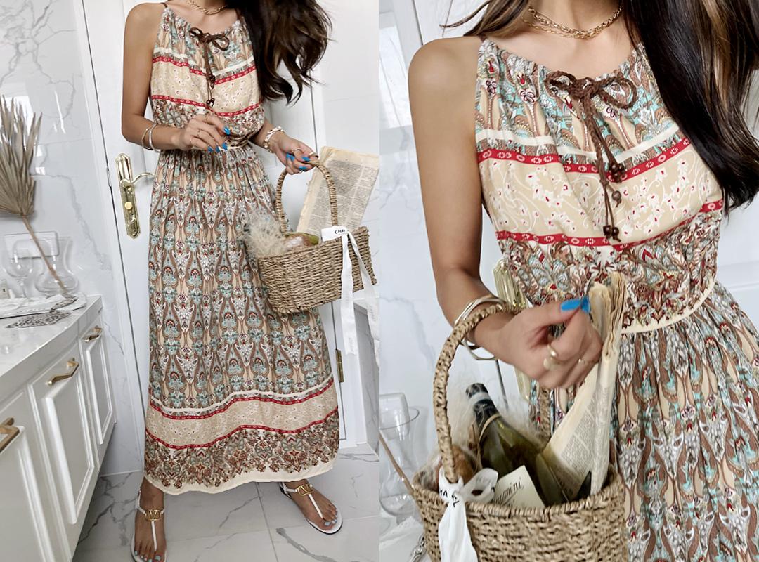 naning9-초플리 패턴원피스(C07)♡韓國女裝連身裙
