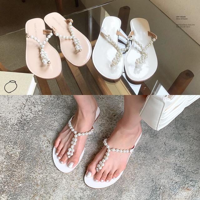 sweetglam-IN-1777 마리젤 펄 플립플랍♡韓國女裝鞋
