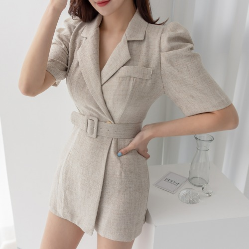 marlangrouge-마인점프수트(벨트SET)♡韓國女裝褲