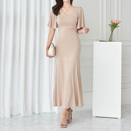 marlangrouge-러플소매롱랩원피스♡韓國女裝連身裙