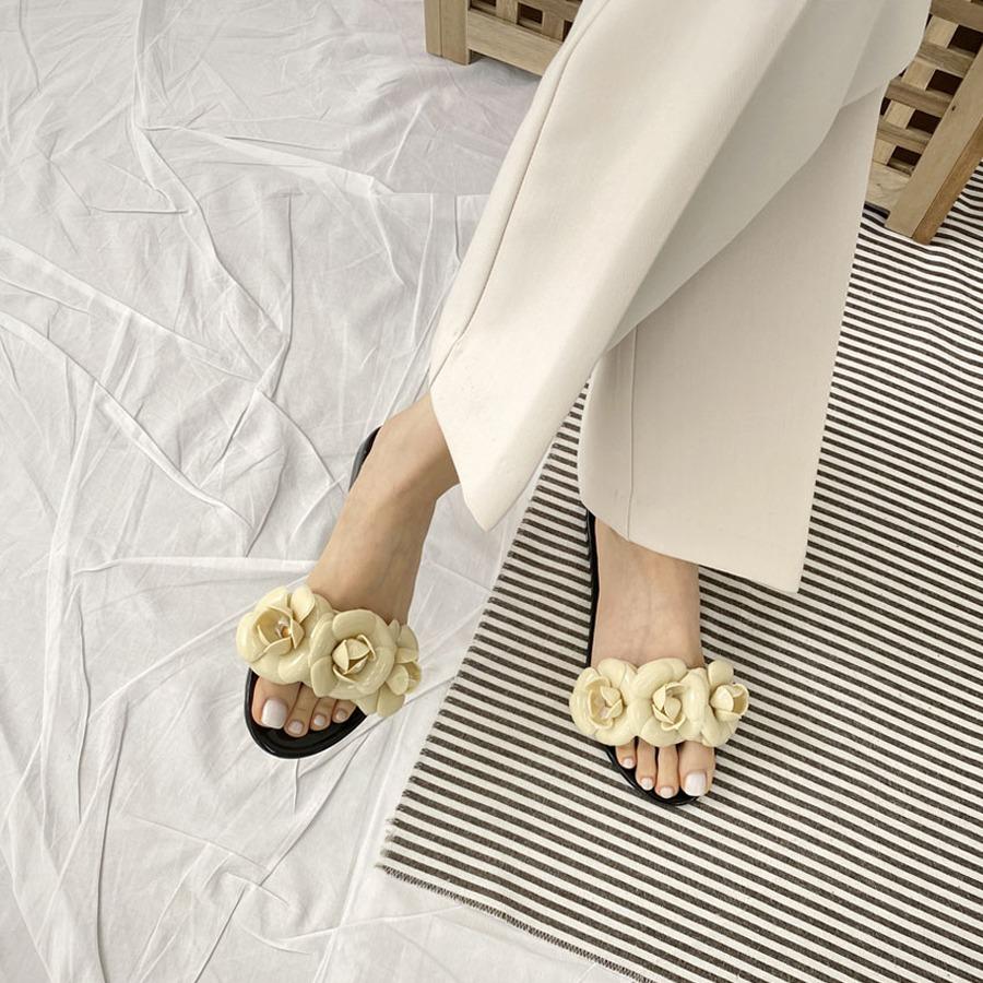 blancjo-썸머 고무 플라워 슬리퍼_ss03990♡韓國女裝鞋