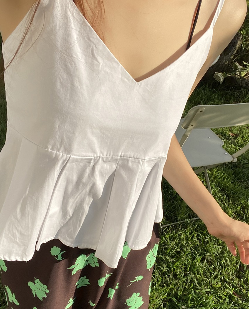 myclassy-Marni Pintuck Sleeveless♡韓國女裝上衣