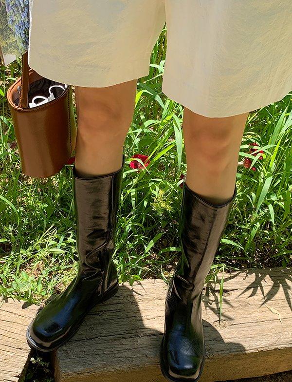 browncode-slit boots♡韓國女裝鞋