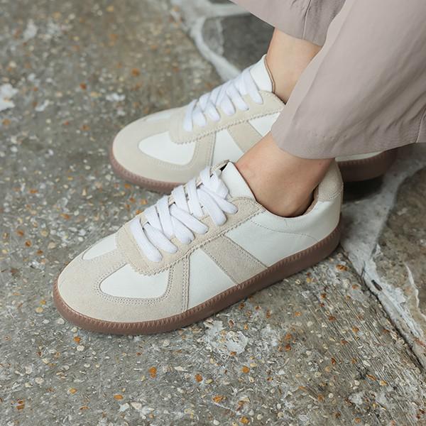 ode-[레더 배색 데일리 스니커즈]♡韓國女裝鞋