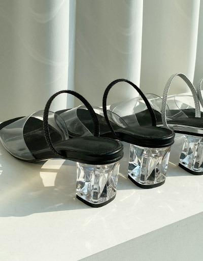 monica-room-[6cm] 투명힐♡韓國女裝鞋
