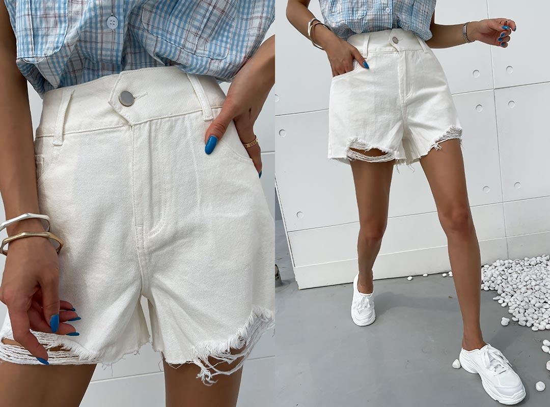 naning9-트오베 빈티지숏팬츠(C07)♡韓國女裝褲