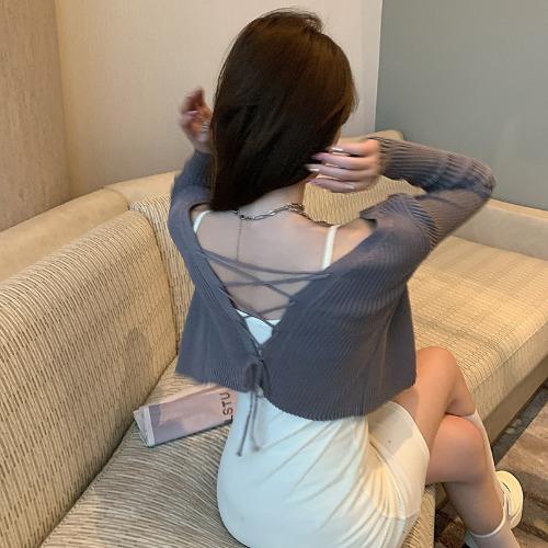 zanne-블링 엑스 긴팔 가디건 - 잔느♡韓國女裝外套