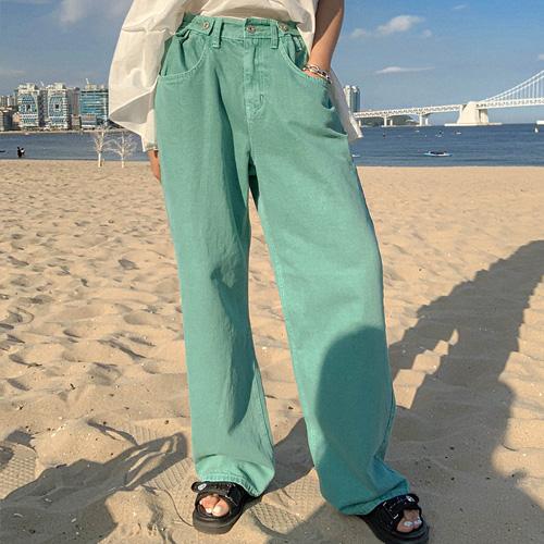 unbutton-[츄츄 컬러-pt]♡韓國女裝褲