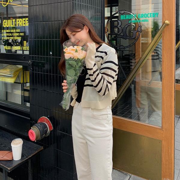benito-셀리아 스트라이프 가디건 신상/단가라/가디건/썸머가디건/썸머/살안타템/여성가디건/베스트/스트라이프/여성/데일리♡韓國女裝外套