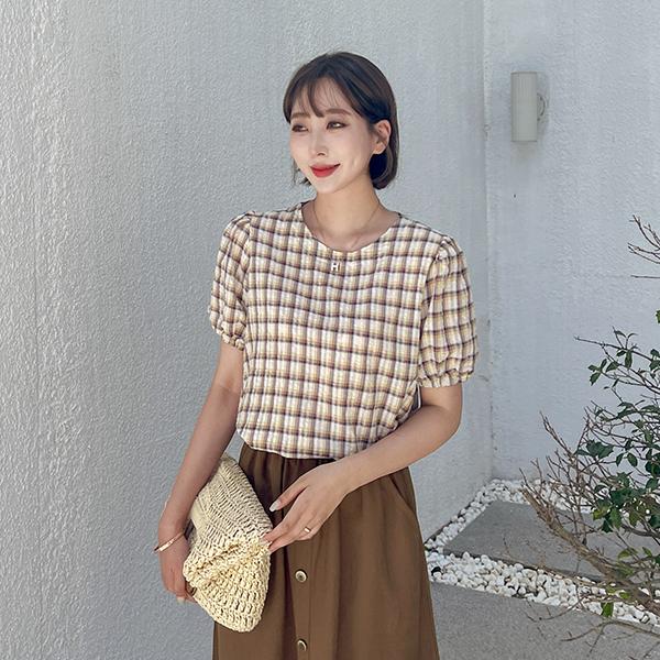 canmart-[메리체크블라우스 C071427]♡韓國女裝上衣