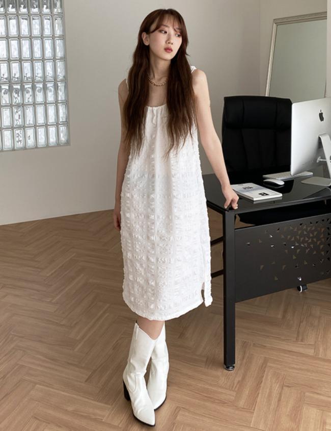 myclosetme-피크 밴딩 원피스 (2color)♡韓國女裝裙