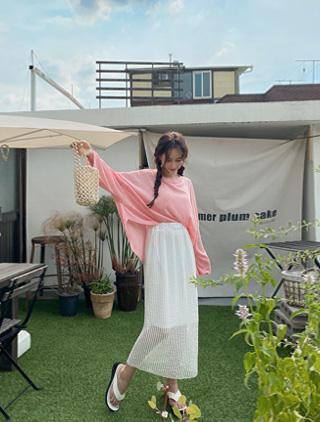 jstyleshop-[러지엔 니트 롱스커트]♡韓國女裝褲