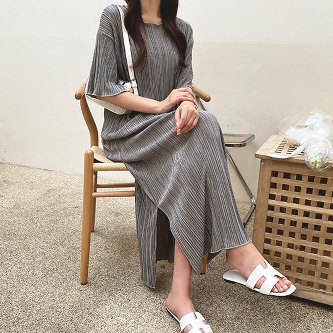 wingsmall-로빈트(플리츠롱원피스)♡韓國女裝連身裙