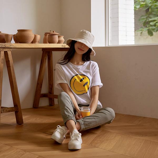 chicfox-해피썸머 코튼반팔티셔츠♡韓國女裝上衣
