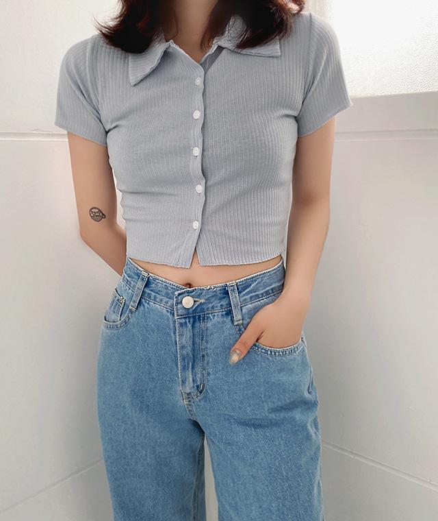 kikiko-반디크롭반팔티♡韓國女裝上衣