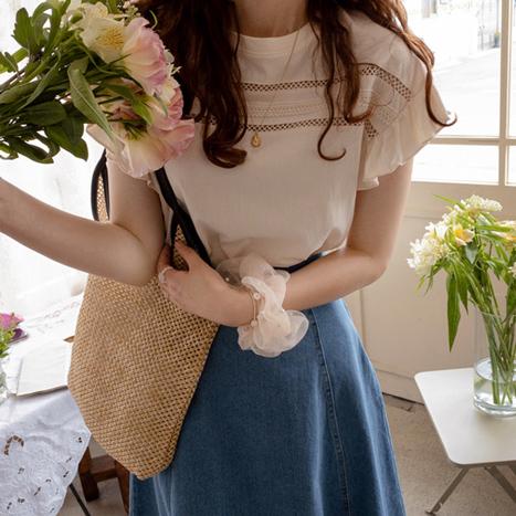 leelin-[모스티아 러브샤링 레스 티[size:F(55~66)]]♡韓國女裝上衣