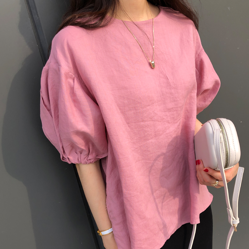 9-room-카이 셔링 블라우스 (3color)♡韓國女裝上衣