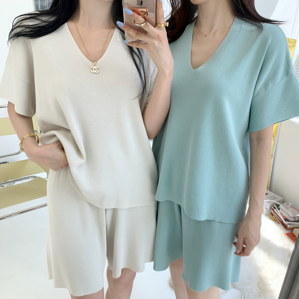 uinme-데일리 니트 SET - [ 4color ] - 유인미데일리 니트 SET - [ 4color ] - 유인미♡韓國女裝套裝