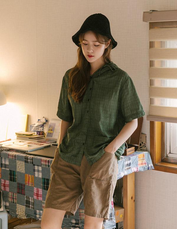 goroke-[내츄럴 포켓후드BL*3c]♡韓國女裝上衣