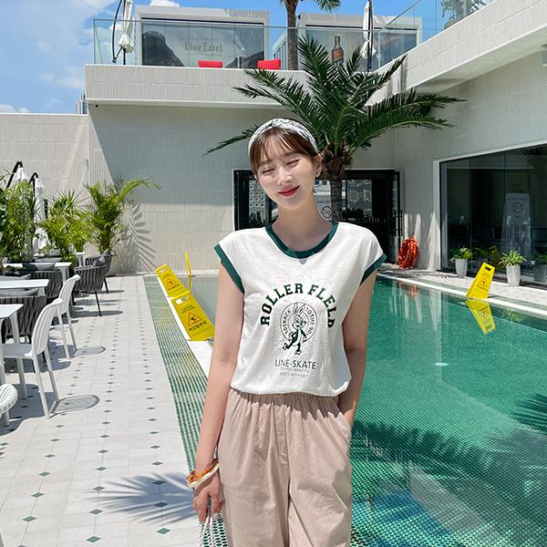 canmart-[레빗배색나시티 C071543]♡韓國女裝上衣