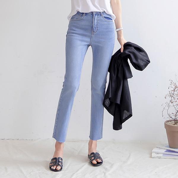 misscandy-[no.20793 밑단컷팅 슬림핏 데님팬츠]♡韓國女裝褲