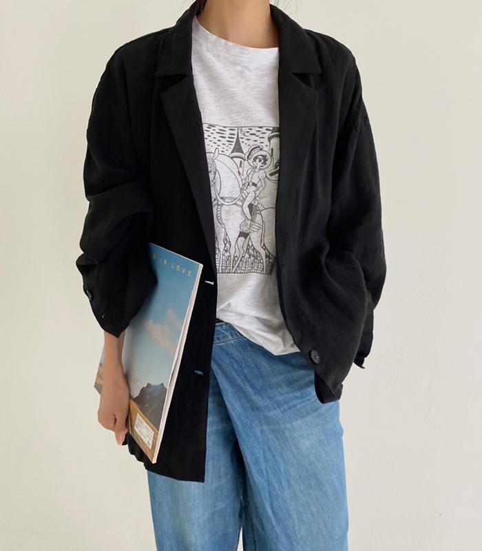 sibuya-[데이먼 린넨 자켓]♡韓國女裝外套